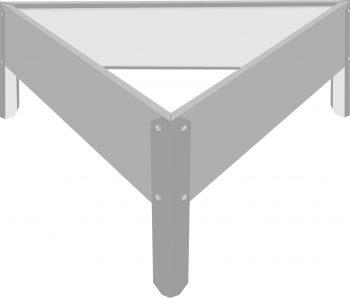 Металлическая треугольная клумба оцинкованная