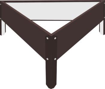 Металлическая треугольная клумба Коричневый RAL8017